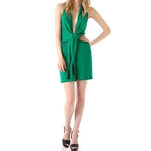 BCBGMAXAZRIA NWT Lella Plunge Cocktail Dress Green